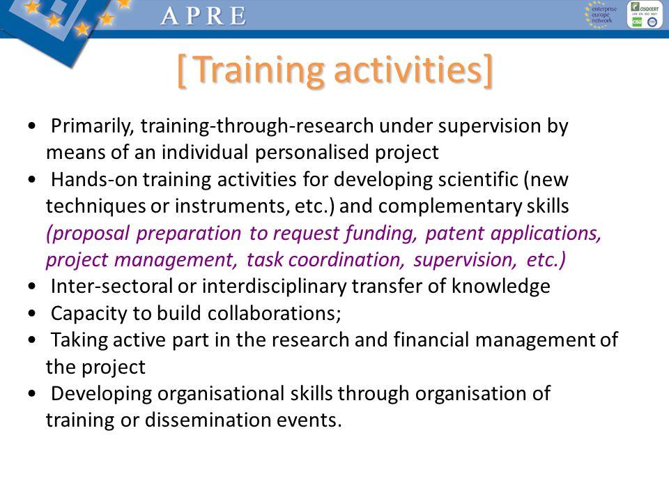 [ Training activities]